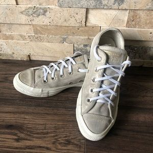 Converse Sneakers W/Metallic Threading